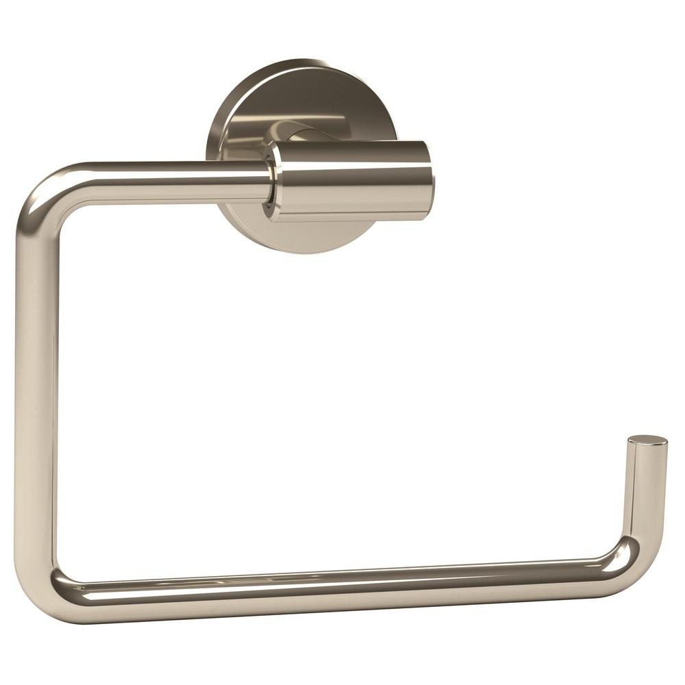 Amerock Arrondi 6-7/16 in. L Towel Ring in Polished Stainles