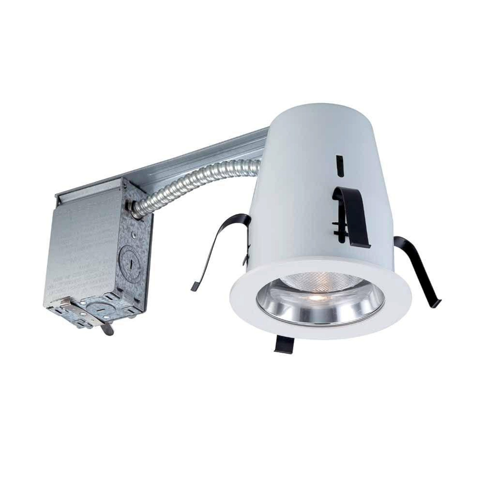 Details About Commercial Electric 4 In Chrome Non Ic Remodel Recessed Lighting Kit