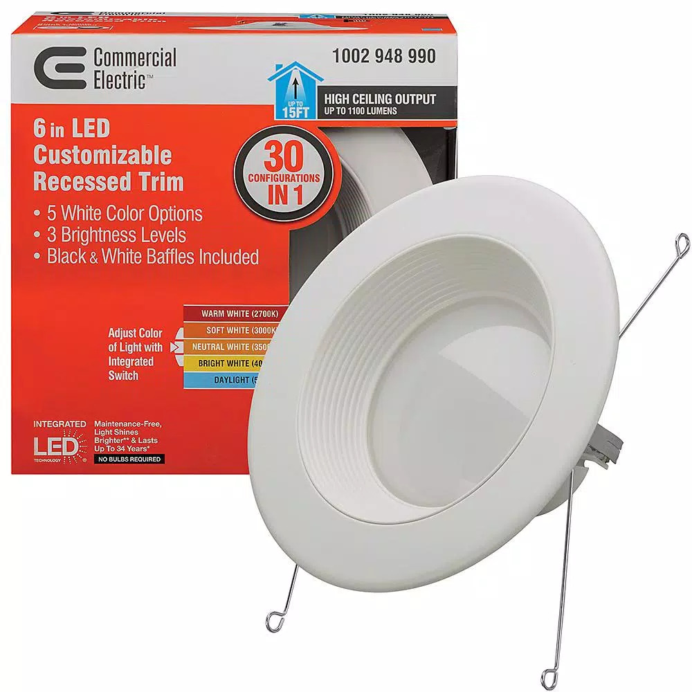 Strange Details About 6 In Ceiling Can Light Kit Led Lumen Warm White Dimmable Kitchen Bathroom J1 Home Interior And Landscaping Ponolsignezvosmurscom