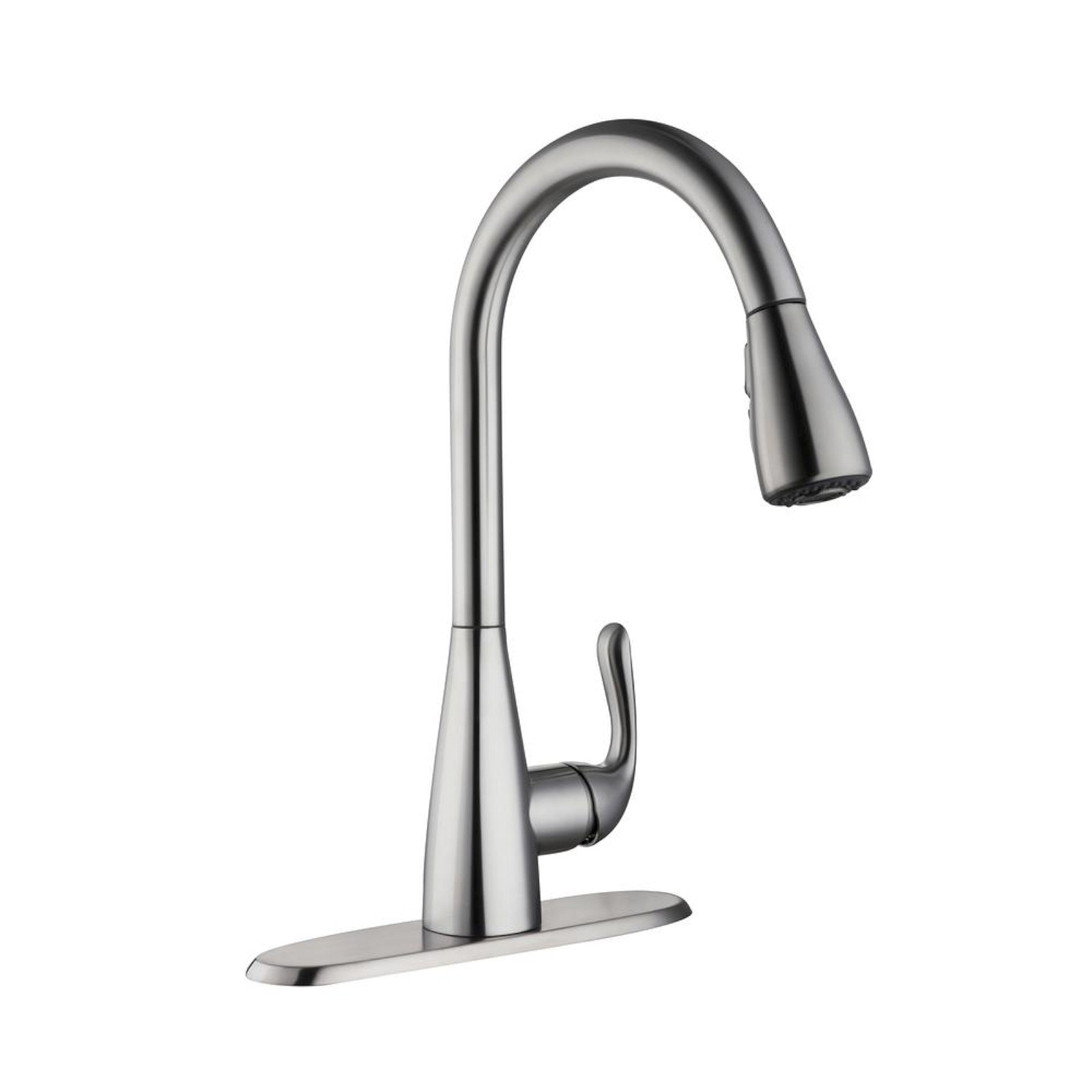 Glacier bay carla single handle pull down sprayer kitchen faucet stainless steel