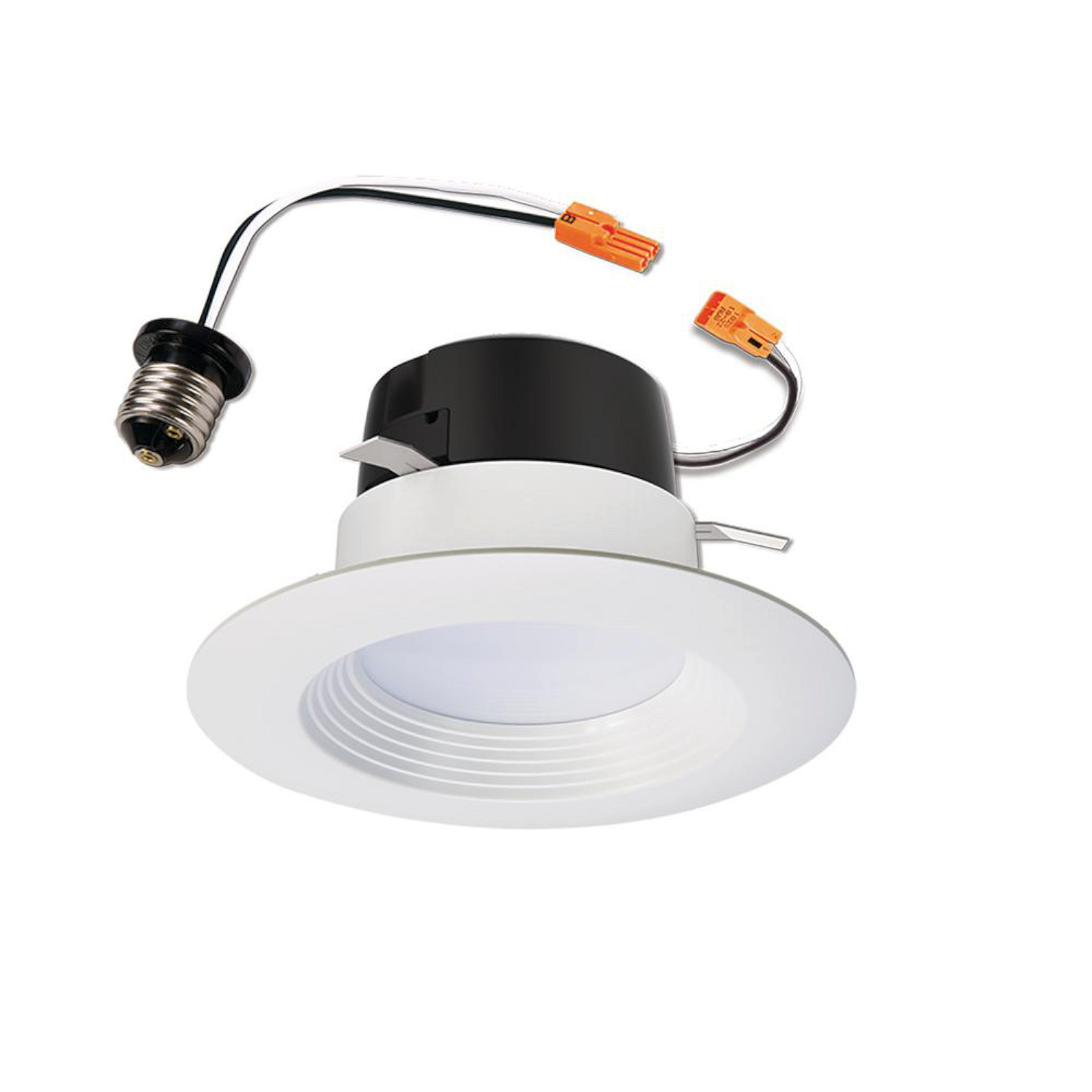 Details about halo lt 4 in white led recessed ceiling light fixture retrofit downlight trim