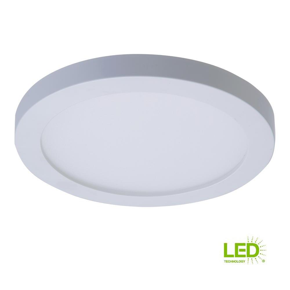 Details about halo smd 4 in white led recessed round surface mount ceiling light fixture