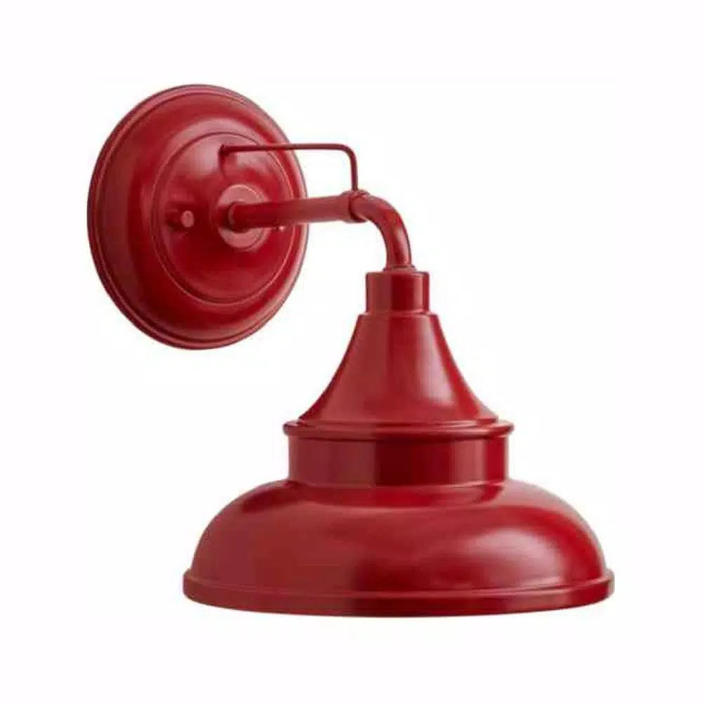 Hampton-Bay-Colonial-Red-Outdoor-Barn-Light-Wall-Mount-Sconce-EW10139RD