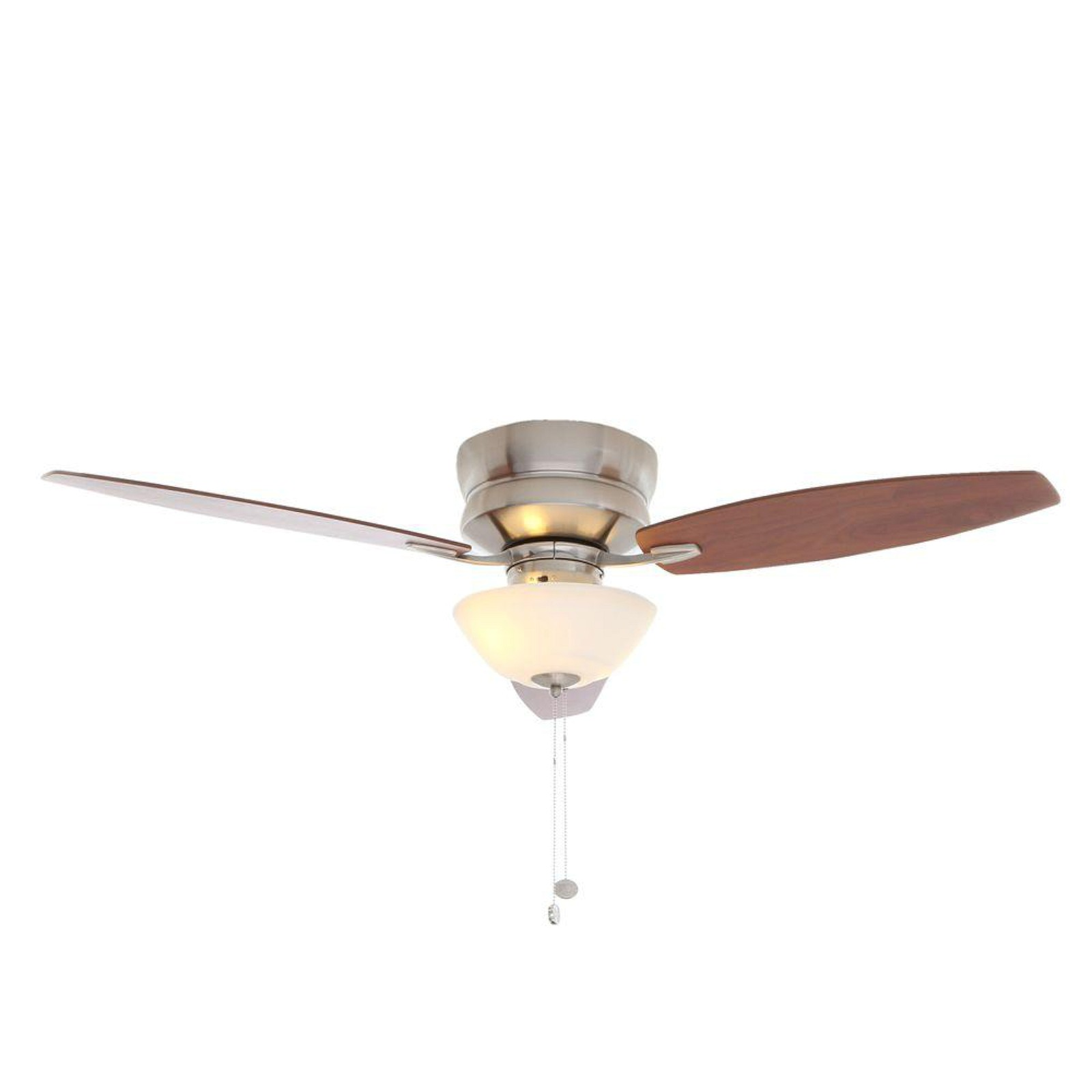 Buy Hampton Bay Rapallo 52 In. Brushed Nickel Ceiling Fan Light Kit ...