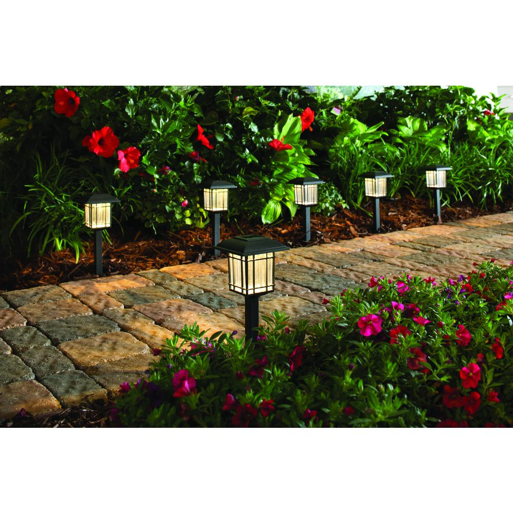 Hampton-Bay-Solar-Black-Outdoor-LED-3000K-6-Lumens-Landscape-Light-6-Pack thumbnail 8