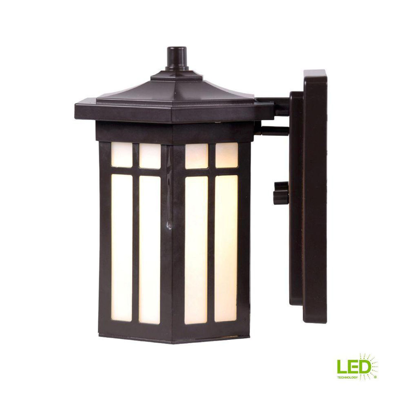 Details about home decorators collection antique bronze outdoor led small wall light dw7030abz