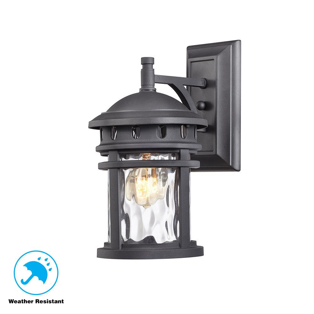 Details about home decorators collection c2368 1 light black outdoor wall lantern