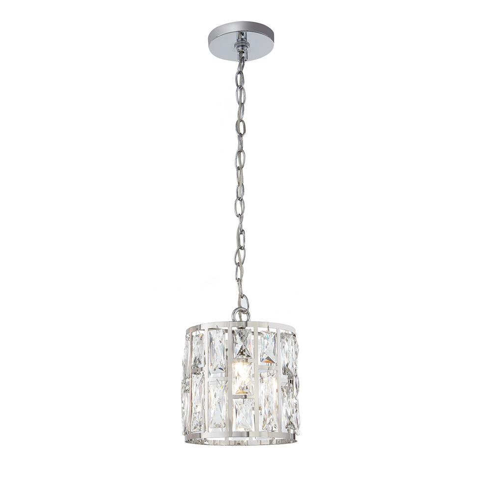 Home Decorators Collection Kristella 1-Light Crystal and Chr