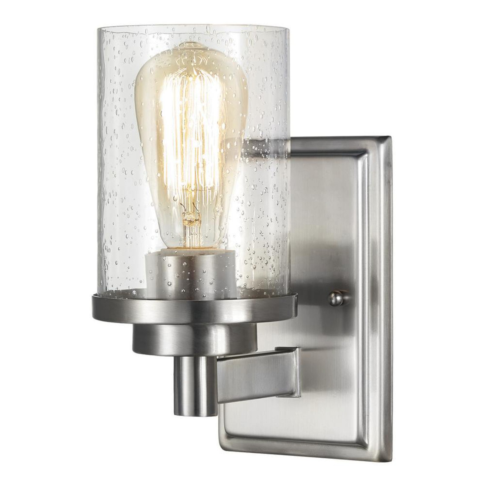 Home decorators collection 1 light brushed nickel wall sconce