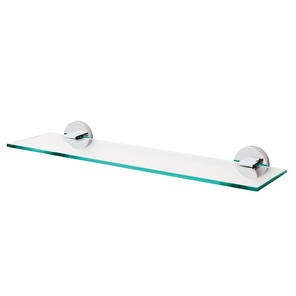 Details About Speakman Neo 5 31 In W Wall Mounted Bathroom Glass Shelf In Polished Chrome